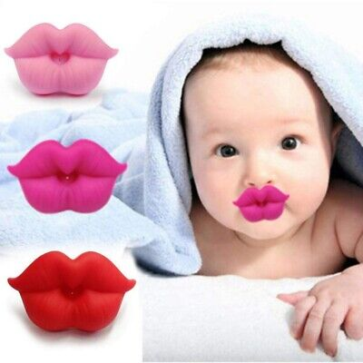 Newborn Baby Smoothie Pacifier Kiss Lips Shape Orthodontic Funny Pacifiers US