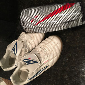 Ladies Indoor Soccer Shoes and Shin Guards