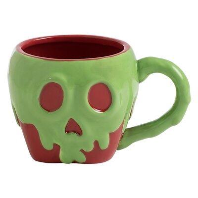Walt Disney Snow White Poison Apple Image 16 oz Sculpted Ceramic Mug NEW UNUSED