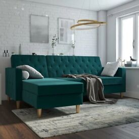 Liberty Reversible Sleeper Corner Sofa Bed (Green Velvet) selling at £450 this is £699.99 to buy