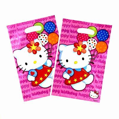HELLO KITTY Gift Loot chocolate,candies,toys Bag Themed Party Decorative 10pc