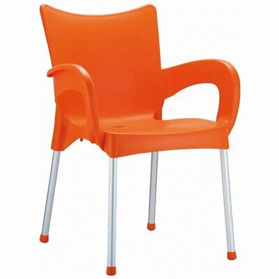 Compamia Romeo Resin Patio Dining Arm Chair in Orange ()