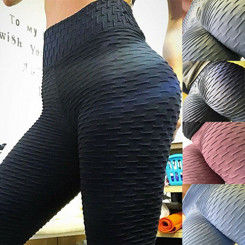 US Women Butt Lift Yoga Pants Hip Push Up Leggings Exercise