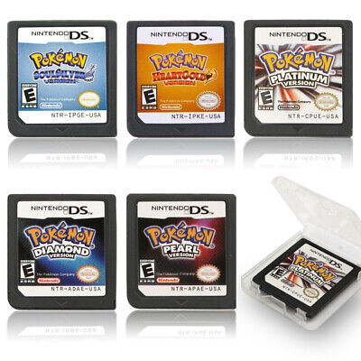 Pokemon Platinum HeartGold SoulSilver Game Card for Nintendo 3DS NDSI NDS Lite