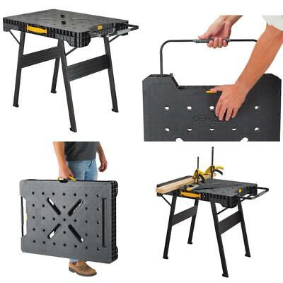 DEWALT Folding Portable Workbench 33 in Work Table Jobsite Surface Trigger -