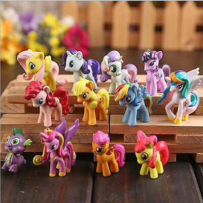 12 PCS My Little Pony Cake Toppers PVC Kids Girls Toys Gift Figurines Decoration](Pony Girls)