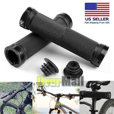 L Bike Grips Silicone Mountain Bicycle MTB Handlebar Ergonomic Cycling 130mm