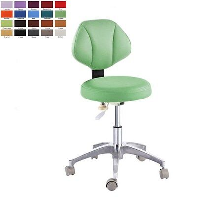Medical Dental Doctors Chair Stool Adjustable Mobile Chair Microfiber Leather