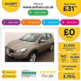 Nissan Qashqai 1.5dCi 2WD Acenta FROM £31 PER WEEK !