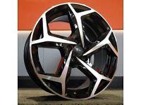 """17"""" Bonneville style Wheels and Tyres for a VW Polo, Seat Ibiza, Skoda Fabia Etc"""