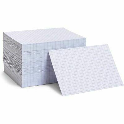Grid Ruled Index Cards 4x6 Inches White 300 Pack