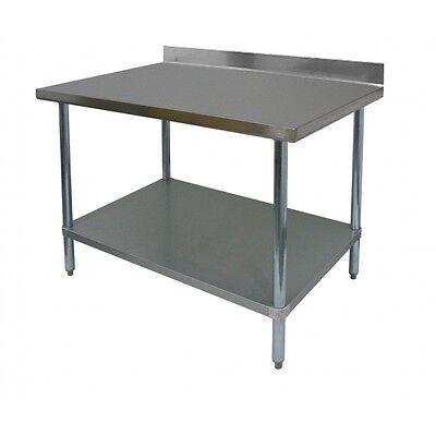 All Stainless Steel Worktable 24x24 W Backsplash Nsf