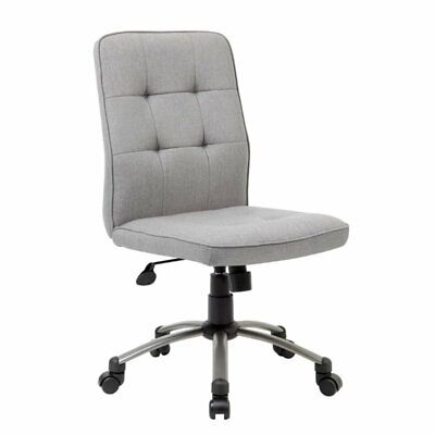 Boss Pretty Parsons Modern Armless Office Chair In Taupe