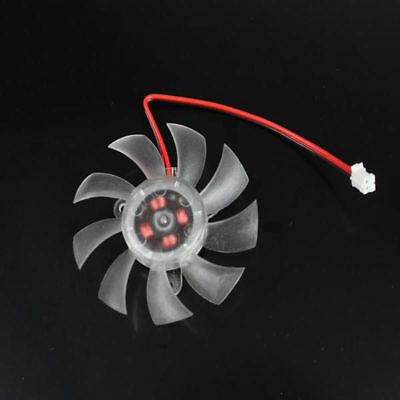 2pin 55mm 5.5cm 4 Hole 9 Blade Fan for VGA Video Graphics Card 23mm 30mm 32.5mm