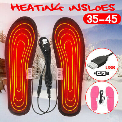 Electric USB Heated Shoes Insoles Sock Warm Feet Heater Foot Warmer Pad -