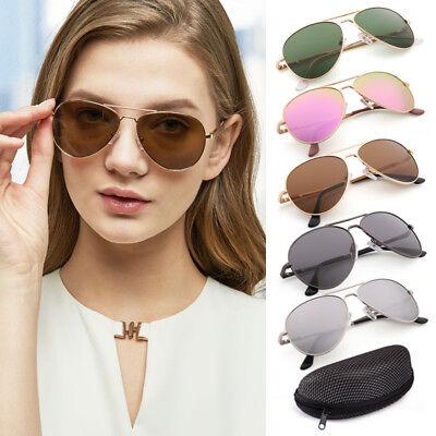 Aviator Polarized Sunglasses For Women Men Lady Metal Frame