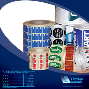 AUTOCOLLANTS IMPRIMÉS/PRINTED STICKERS AT LOW PRICE!!!