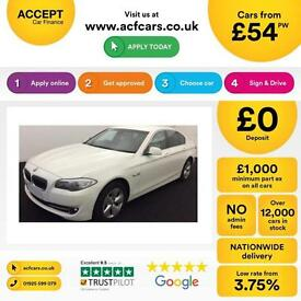 BMW 520 2.0TD 2012MY d EfficientDynamics FROM £54 PER WEEK!