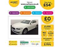white BMW 520d 2.0TD 2012 EfficientDynamics Manual Diesel FROM £54 PER WEEK!