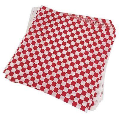 100 PCS checkered deli candy basket liner Food Wrap Papers, Fat Repellent, P4D6 Food Basket Liner