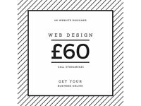 From £60 - Website, web design, development, SEO - From £60