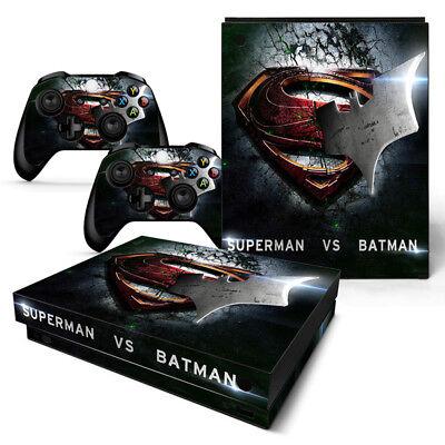 Xbox One X Console Stickers Protective Skin - Batman v's Superman -