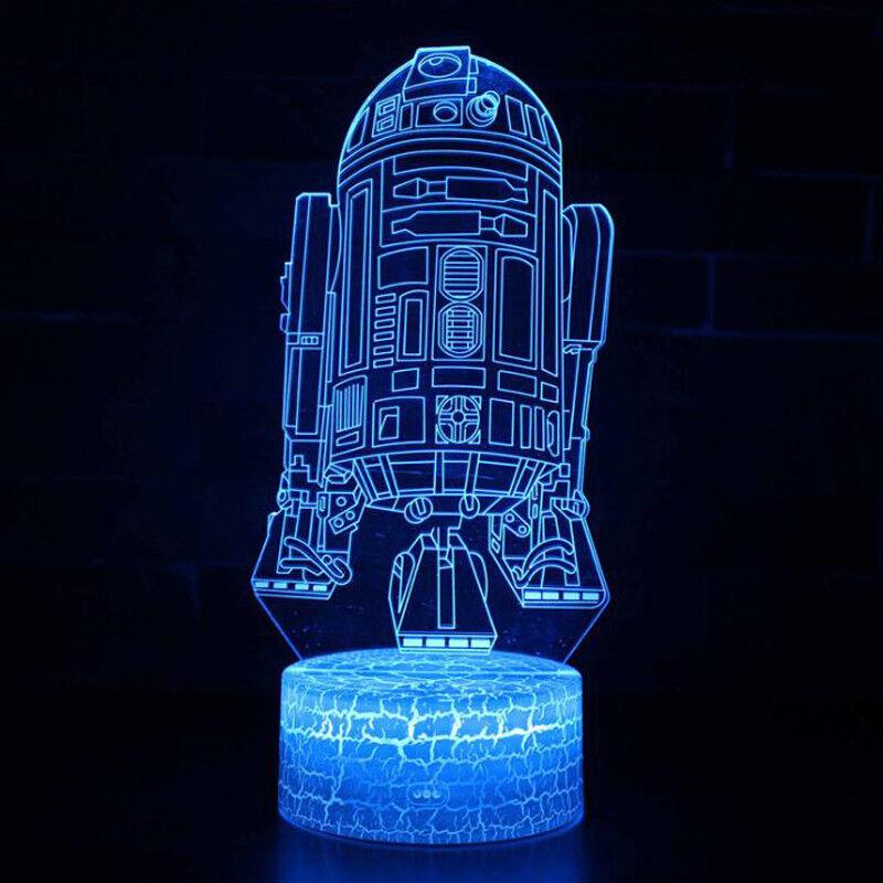 Star Wars Death Star 3d Acrylic Led 7 Color Night Light