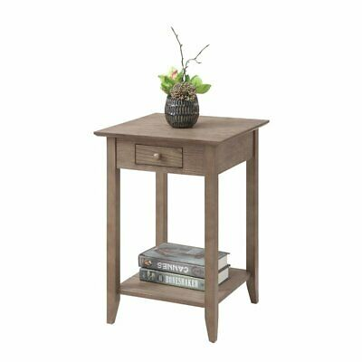 Convenience Concepts American Heritage End Table in Driftwoo