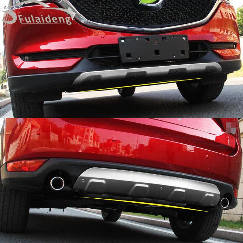 Front /& Rear Bumper Skid Protector Guard 2pcs For Mazda CX-3 2015-2019