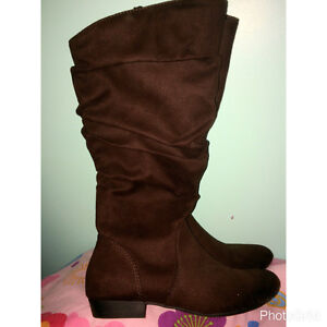 - Suede Fall boots brown