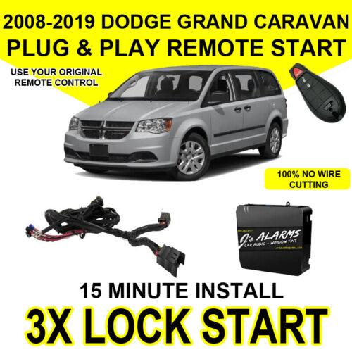 2008-2018 Dodge Grand Caravan Remote Start Add On Factory Key FOB 3X Lock CH4