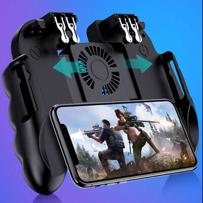 H9 PUBG Mobile Phone Gaming Controller Gamepad Cooling Fan Joystick Android IOS
