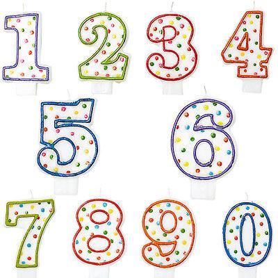 Kerzen Kinder Geburtstag Party Deko Kuchen Zahl 1 2 3 4 5 6 7 8 9 0 Dekoration
