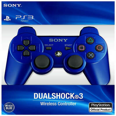 Blue PS3 PlayStation 3 DualShock 3 Wireless SixAxis Controller GamePad US SHIP