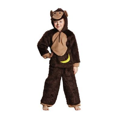 Rub - Schimpanse Kinder Kostüm Affe Karneval Fasching (Kinder Affe Kostüme)