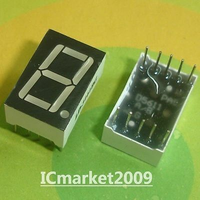10 Pcs 0.56 Inch Green 7 Segment Led Display Common Anode Ld-5161bg