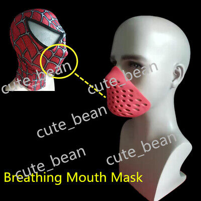 USA Red Spiderman Soft Mouth Breathing Faceshell Silicone Rubber Spider-man Mask