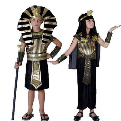 Egypt Girl Costume (Halloween Boy Girl Egypt Egyptian Pharaoh Cleopatra Prince Princess Costume)