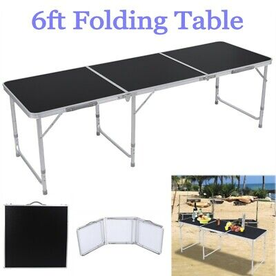 6FT Folding Table Aluminium Alloy In/Outdoor Picnic Party Dining Camping -