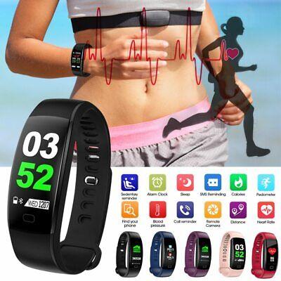 Smart Watch Band Heart Rate Oxygen Blood Pressure Fitness Tracker Activity Sport