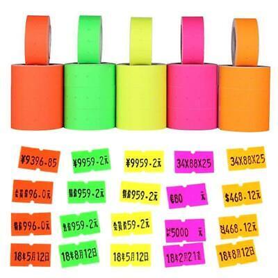 500pcsroll Colorful Price Label Paper Tag Mark Sticker For Mx-5500 Labeller Gun