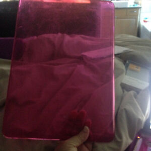 Hard Plastic Hot Pink Clear Macbook cover in Excellent Shape