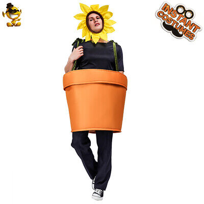 Adult's unisex Funny Sunflower Pot Costume Fancy Dress for Carnival Party