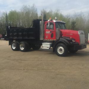 western star tandem dump truck