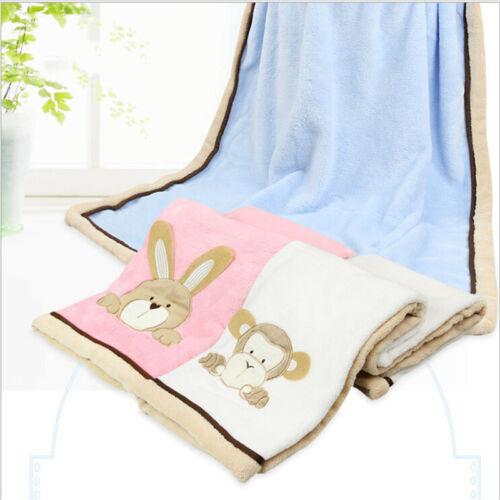 Baby Soft Blanket Infant Crib Bedding Cartoon Blanket Newbor