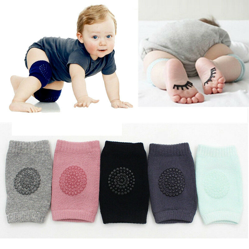 1 Pair Baby Knee Protector Pads Non Slip Safety Crawl Training Kid Elbow Cushion