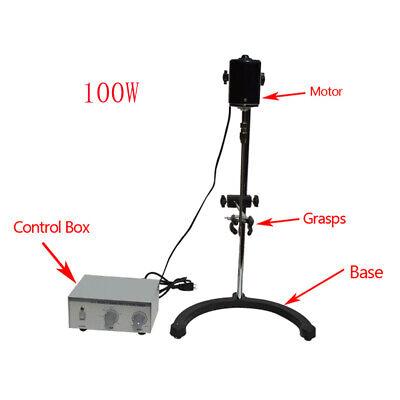 Intbuying 110v Electric Overhead Stirrer Mixer 100w Lab