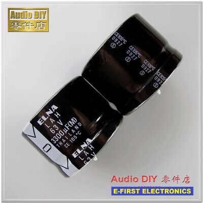 2pcs Elna Lah Series 3300uf63v 3300uf Electrolytic Capacitor