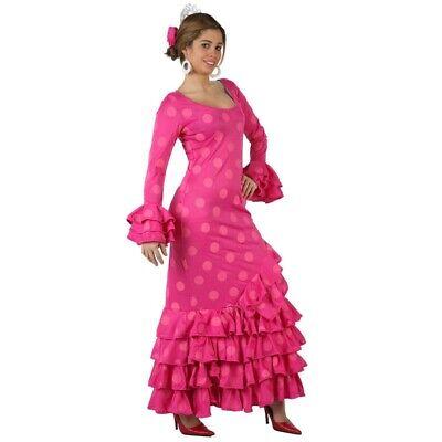 Disfraz de Sevillana fucsia a - Sevillana Kostüm