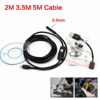 5.5mm Usb Endoscope Borescope Snake Inspection Camera For Android Phone 23.55m